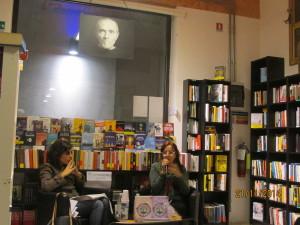 Chiara Gasperini e Monica Peccolo alla libreria Nardini di Firenzei