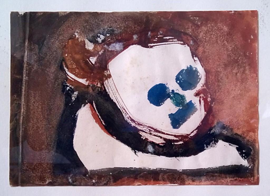 babbo.jpg: Opera di Federico Biancalani, Titolo: Babbo, tecnica: acquerello su carta, 25x35 cm, 1978