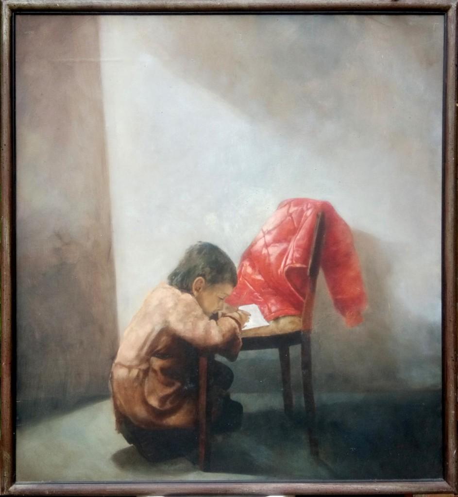 federico.jpeg: Opera di Antonio Biancalani, Titolo: Federico, tecnica: olio su tavola, 120x150 cm, 1979
